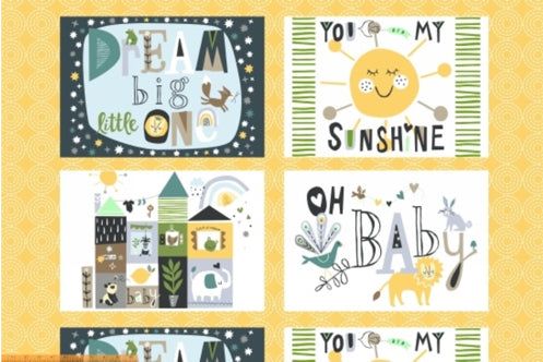 Dream Little One Fabric Panel - small by Jill McDonald for - Fabric and Frills