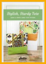 Load image into Gallery viewer, Sturdy and Stylish Tote Kit - by Sally Tomato for Maywood Studios Pattern Included - Fabric and Frills