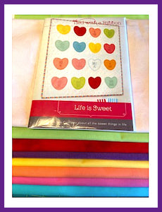 Life is Sweet Quilt Kit by Tied with a Ribbon and Fabric and Frills - Fabric and Frills