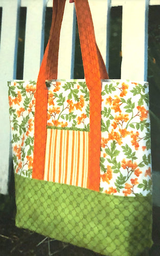 Sturdy and Stylish Tote Kit - by Sally Tomato for Maywood Studios Pattern Included - Fabric and Frills