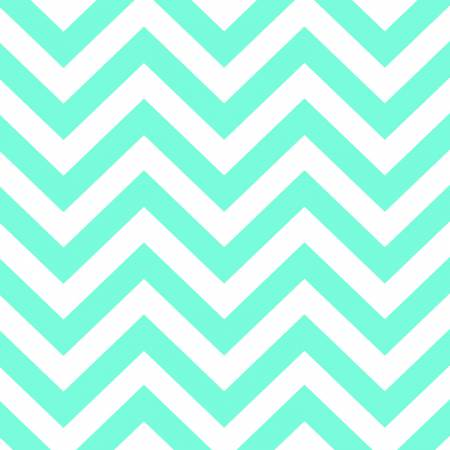 Brother Sister Aqua Geo Chevron Yardage - Fabric and Frills