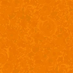 Zinnias In Bloom - Orange Floral Tonal brought to you by Clothworks - Fabric and Frills
