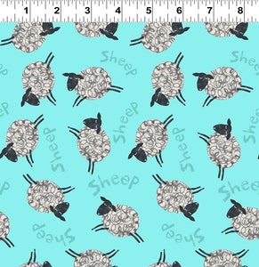Animal Magic Aqua by Tracey English By Clothworks - Fabric and Frills