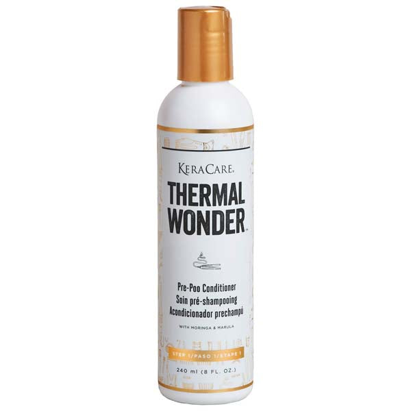 Keracare - Thermal Wonder Pré-poo conditioner soin pré-shampoing au Moringa et Marula 240 ml