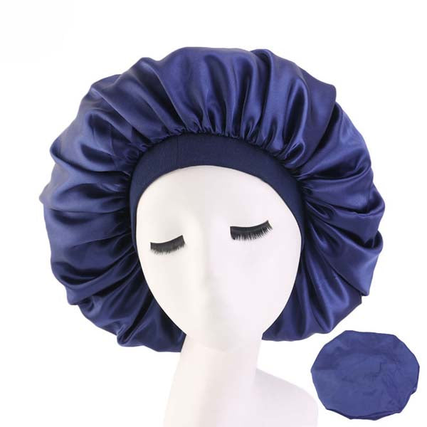Day and Night Cap Bonnet de Nuit en Satin Extra Large Taille Large XL - 5 couleurs disponibles