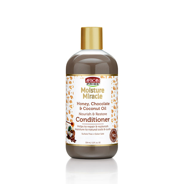 African Pride Moisture Miracle Honey, Coco Oil Conditioner - Soin Hydratant Miel, Chocolat & Coco 354 ml