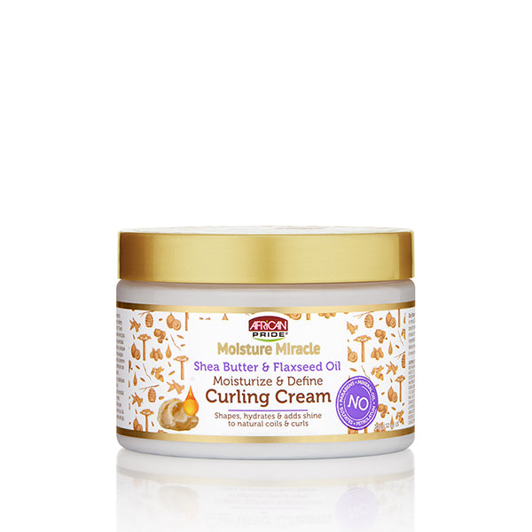 African Pride Moisture Miracle Shea & Flaxseed Curling cream - Crème Definition Boucle Karité & Lin 340g