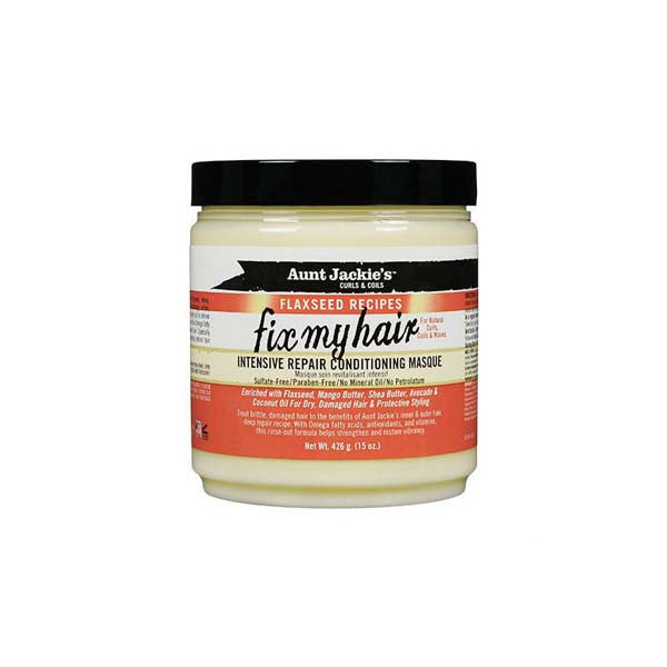 Aunt Jackie'S Flaxseed Fix My Hair Masque - Masque Réparateur beurre De Mangue, Huile de Coco avocat 426g