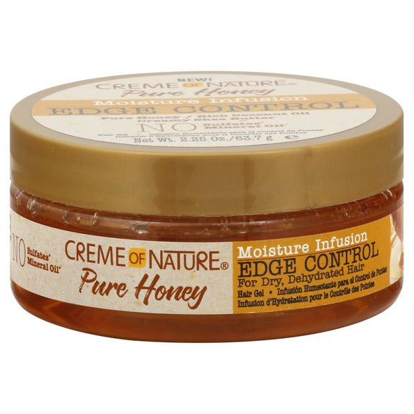 Creme Of Nature Pure Honey Moisturizing Infusion Edge Control - Gel Bordure Cheveux Infusé Au Miel 63 g