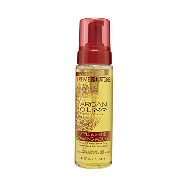 Creme Of Nature Argan Oil Style & Shine Foaming - Mousse Coiffante 207 ml