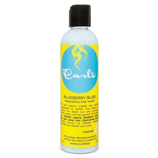 Curls Blueberry Reparative Hair Wash - Shampoing Réparateur à La Myrtilles et Huile d'Argan