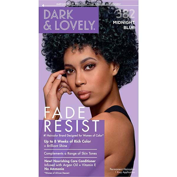 Dark & Lovely - Coloration Fade resist rich conditioning color - Bleu Nuit 382