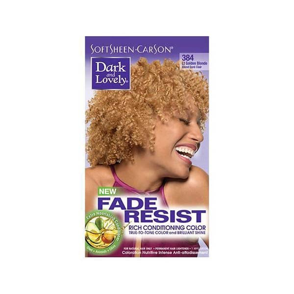 Dark & Lovely - Coloration Fade resist rich conditioning color - Blond Doré Clair 384