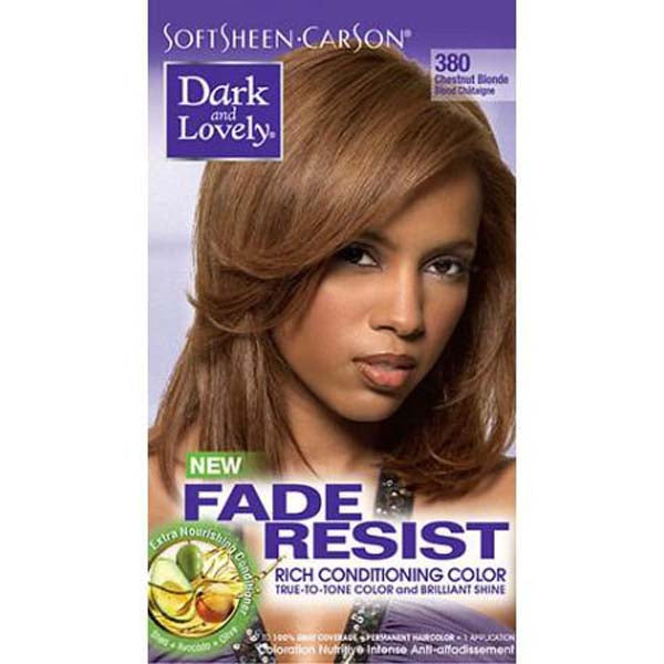 Dark & Lovely - Coloration Fade resist rich conditioning color - Blond châtaigne 380
