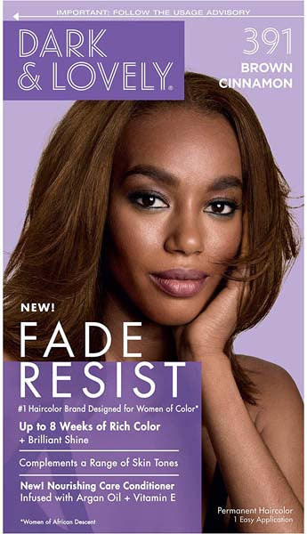 Dark & Lovely - Coloration Fade resist rich conditioning color - Brun Cannelle 391