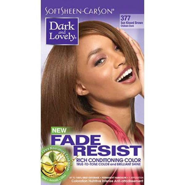 Dark & Lovely - Coloration Fade resist rich conditioning color - Châtain Doré 377