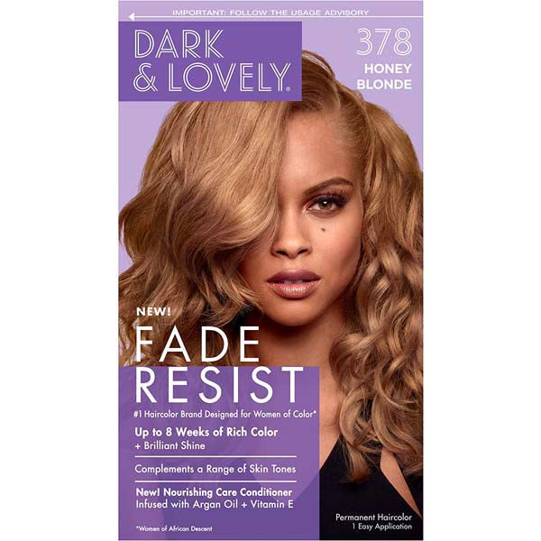 Dark & Lovely - Coloration Fade resist rich conditioning color - Honey Blond Miel 378