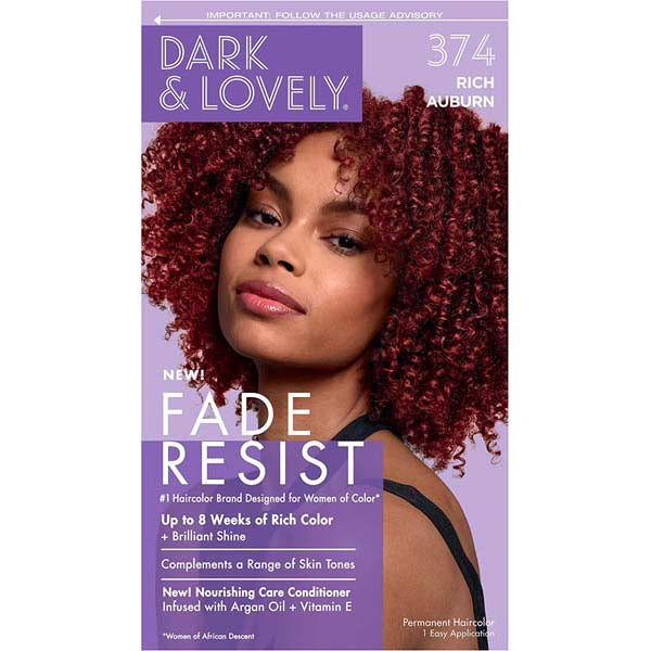 Dark & Lovely - Coloration Fade resist rich conditioning color - Marron Cuivré 374