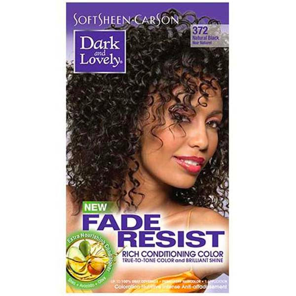 Dark & Lovely - Coloration Fade resist rich conditioning color - Noir Naturel 372