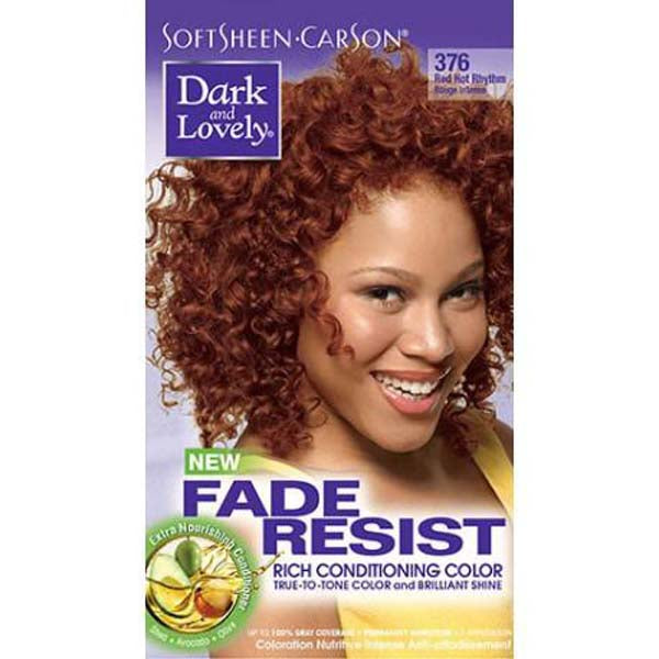 Dark & Lovely - Coloration Fade resist rich conditioning color - Rouge Intense 376