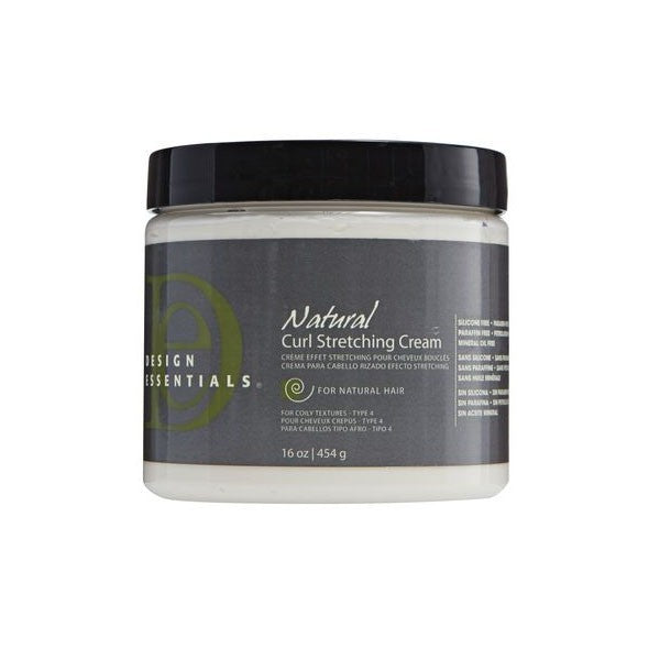 Design Essentials Almond Avocado Natural Curl Stretching Cream - Crème Effet Stretching Beurre Cheveux Bouclés D'Amande, Avocat, Soja 454 g