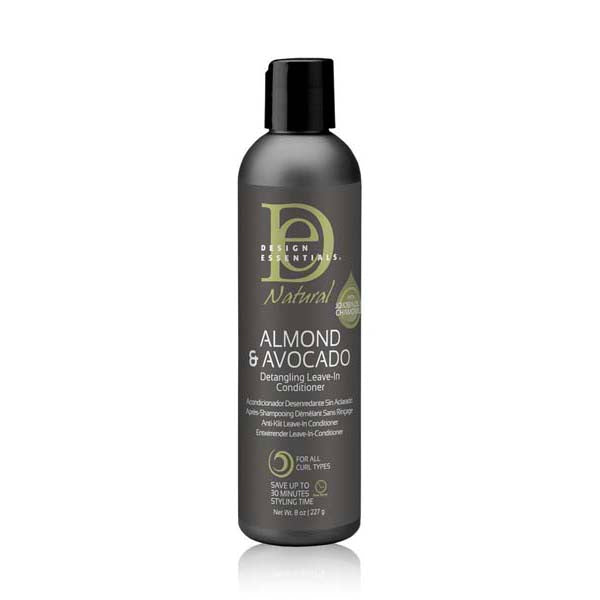Design Essentials Almond Avocado Almond & Avocado Detangling Leave-In Conditioner - Leave in Soin Sans Rinçage Démêlant à l'Amande et Avocat 227g
