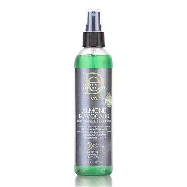 Design Essentials Almond Avocado Control Shine Mist - Spray Revitalisant Boucle Huile Amande & Avocat 236 ml