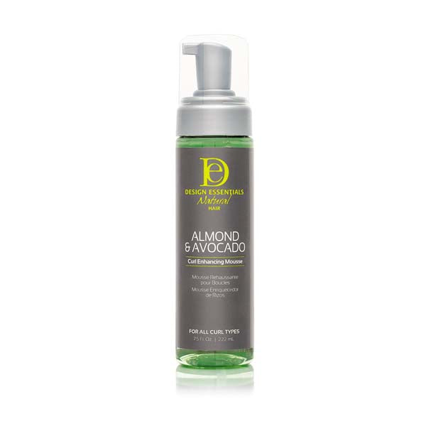 Design Essentials Almond Avocado Curl Enhancing Mousse - Mousse Bouclante, Définition Revitalisant Boucle Huile Amande & Avocat 222 ml