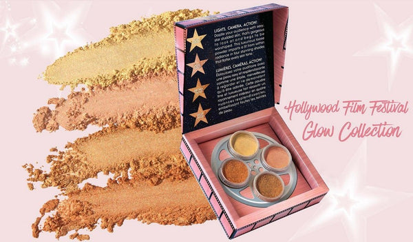 Melanie Mills Hollywood - Gleam Girl - Kit de 4 Highlighter Poudre Visage & Corps Illuminateurs