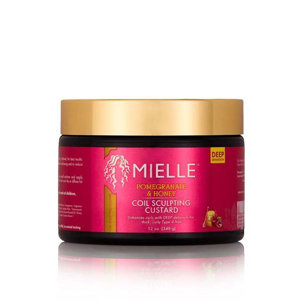 Mielle Organics Pomegranate & Honey Coil Sculpting Custard - Crème Gelée Coiffante Riche En Grenade et Miel 340 g
