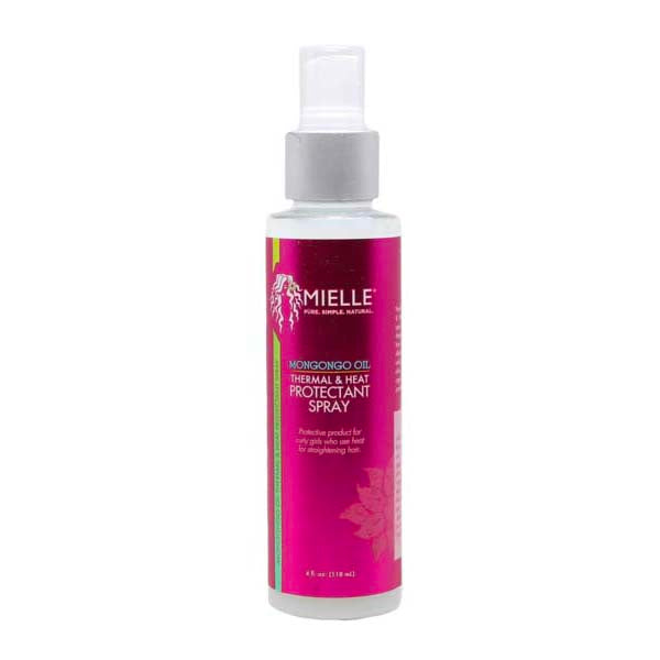 Mielle Organics Thermal & Heat Protectant Spray Mongongo - Soin Thermo Protecteur Huile De Mongongo 118 ml