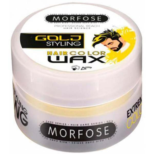 Morfose - Hair Color Wax Gold Styling - Cire coiffante et colorante couleur DORÉ 100 ml