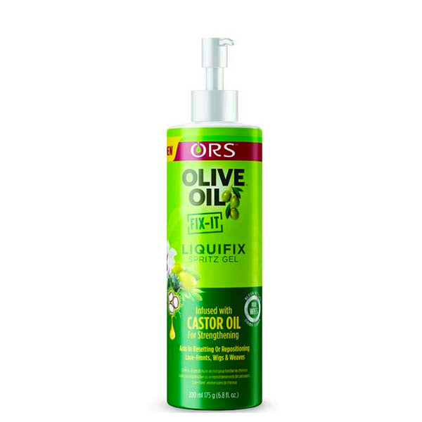 ORS -  Fix it Liquifix  Spritz Gel -  Spray Gel coiffant fortifiant à l'huile de ricin 200ml