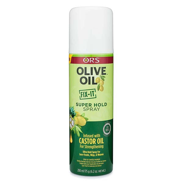 ORS - Super Hold Spray Fix it Spray fortifiant à l'huile de ricin et olive 220 ml
