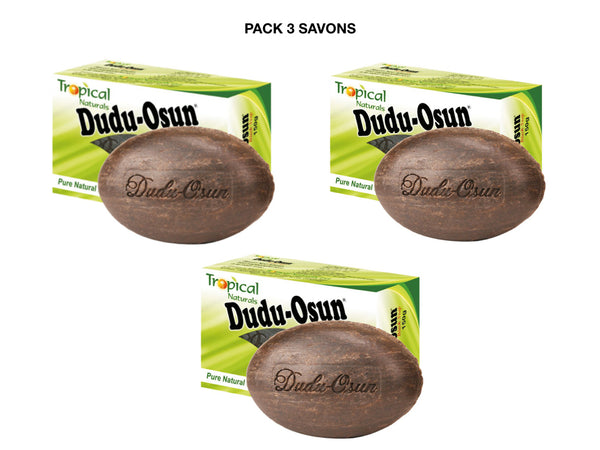Pack Dudu Osun - Lot 3 Dudu Osun Tropical Naturals, 3 Savons Noir