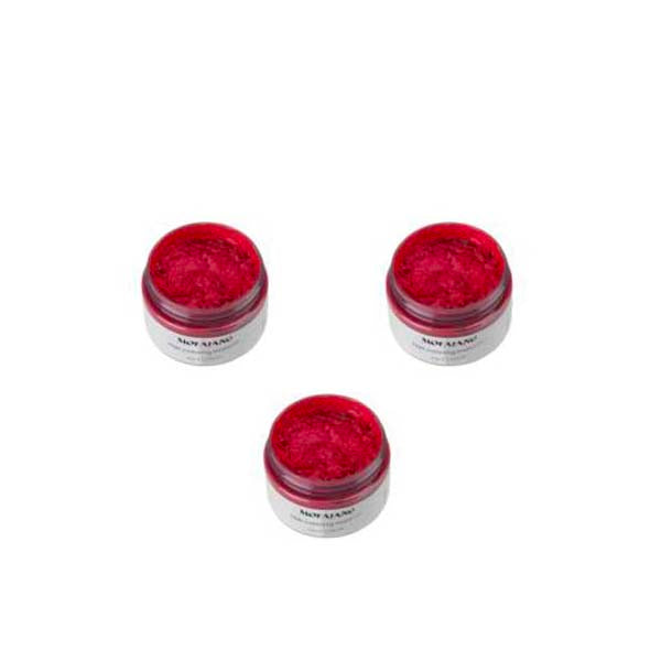 Pack - Hair Color Wax - 3 Cires coloration semi-permanente Rouge 3 x 120 g