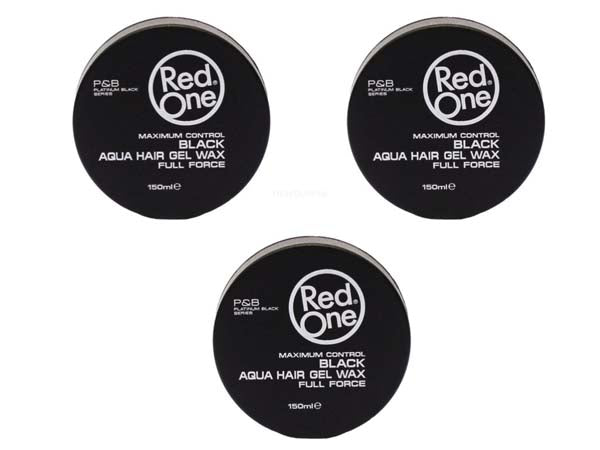Pack Red One - Black Aqua Hair Wax Full Force - 3 Cires coiffantes forte tenue 150ml