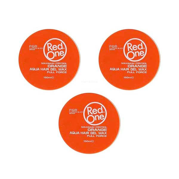 Pack Red One - Orange Aqua Hair Wax Full Force - 3 Cires coiffantes forte tenue 150ml