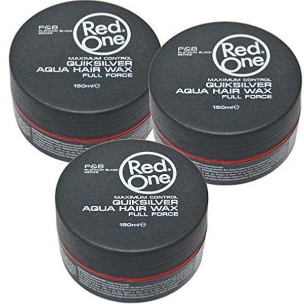 Pack Red One Quicksilver Aqua Hair Wax Full Force - 3 Cires coiffantes forte tenue 150ml
