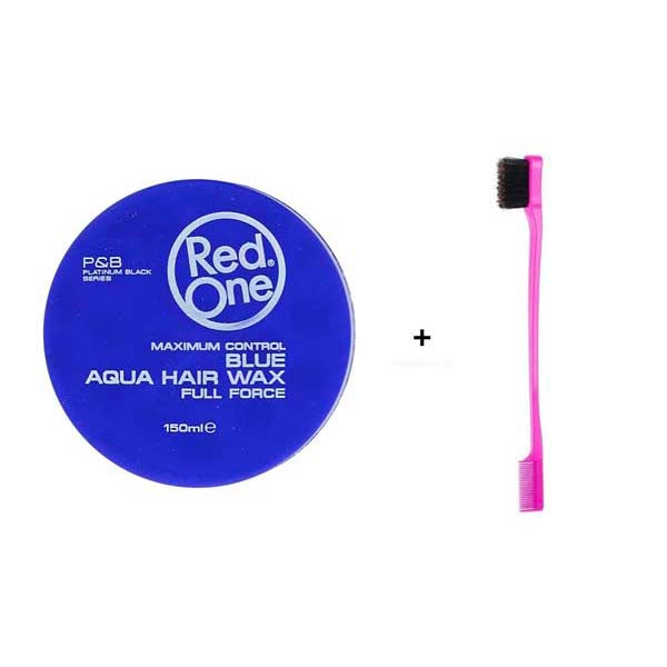 Pack Routine Baby Hair - 1 Cire Red One Blue Wax + 1 Brosse spécial Baby Hair