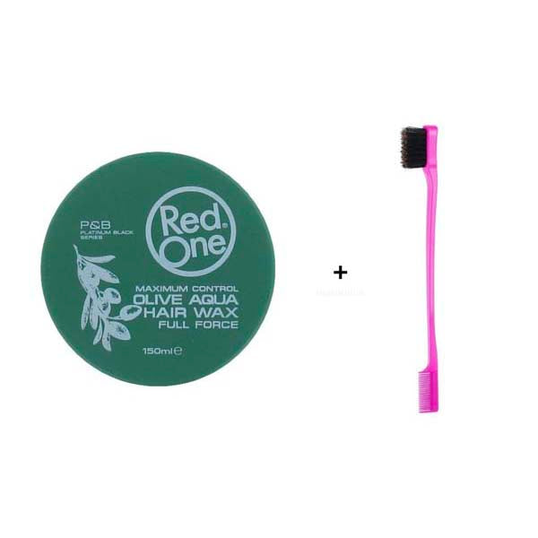 Pack Routine Baby Hair - 1 Cire Red One Olive Aqua Wax + 1 Brosse spécial Baby Hair