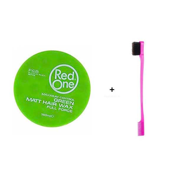 Pack Routine Baby Hair - 1 Cire Red One Vert Matte Wax + 1 Brosse spécial Baby Hair
