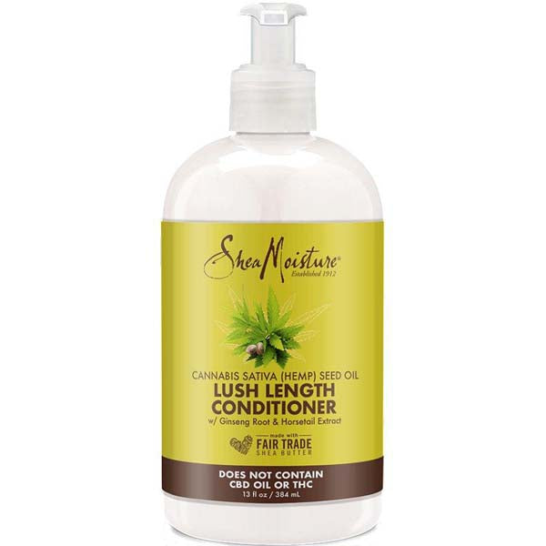 Shea Moisture Cannabis & Ginseng Lush Length  Conditioner - Après-shampoing Riche en Huile de Chanvre 384 ml