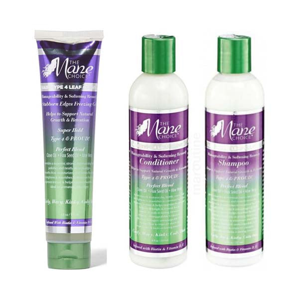Pack The Mane Choice Type 4 Leaf  - Routine Capillaire Soin Cheveux Type 4c