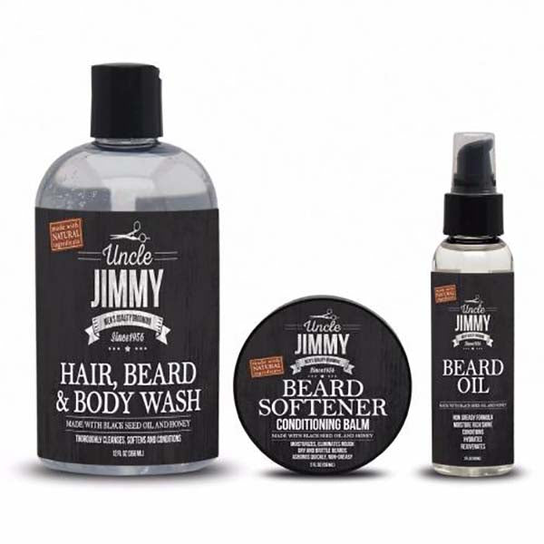 Pack Uncle Jimmy - Routine Soin Hydration pour Homme Cheveux et Barbe