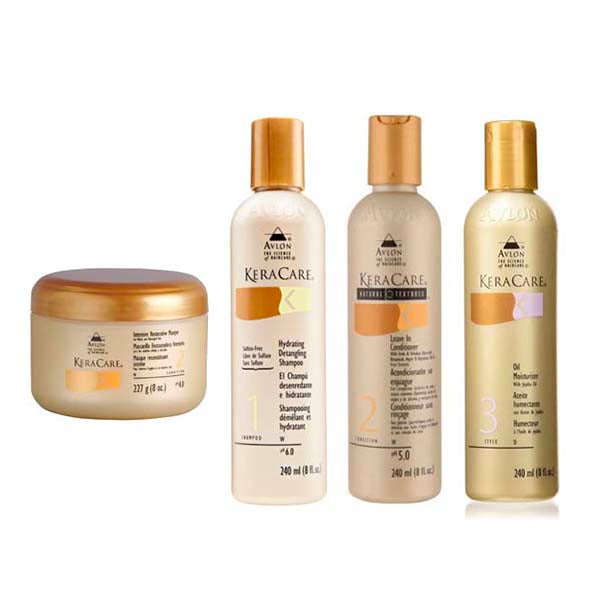 Pack gamme Routine complète Keracare - Masque + Shampoing +Leave in + Crème hydratante