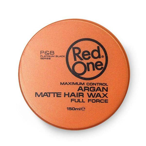 Red One - Argan Matte Hair Wax Full Force Maximum Control - Cire coiffante forte à l'Argan tenue finition matte 150ml