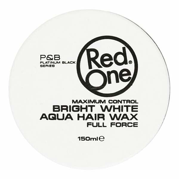 Red One - Bright White Aqua Hair Wax Full Force - Cire coiffante forte tenue 150ml