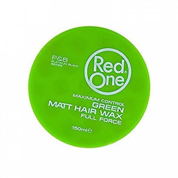 Red One - Green Matte Hair Wax Full Force Maximum Control - Cire coiffante forte tenue finition matte 150ml