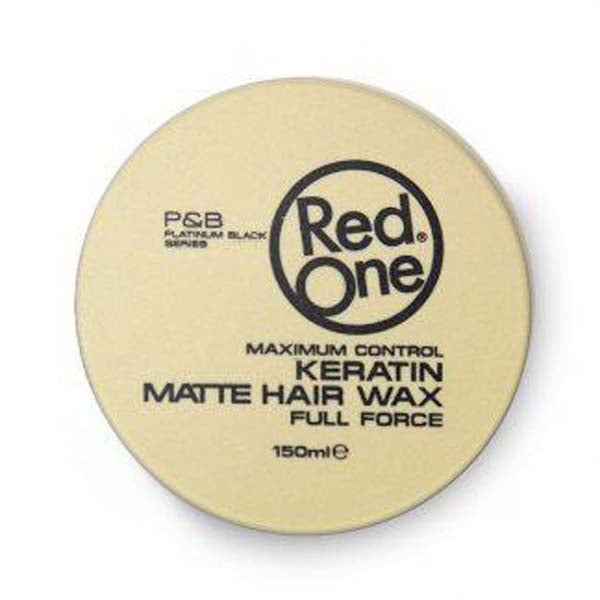 Red One - Keratine Matte Hair Wax Full Force Maximum Control - Cire coiffante forte à la Keratine tenue finition matte 150ml